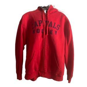 NHL Washington Capitals VTG fleece lined hoodie L
